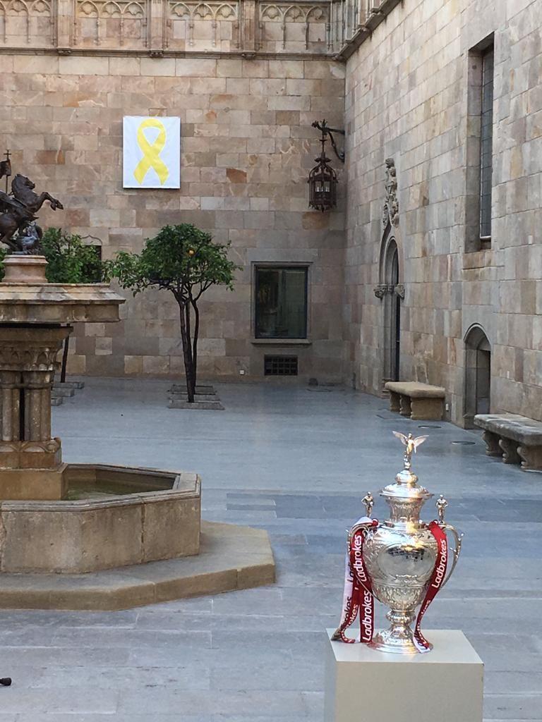 La Cup dans la cour de la Généralitat à Barcelone