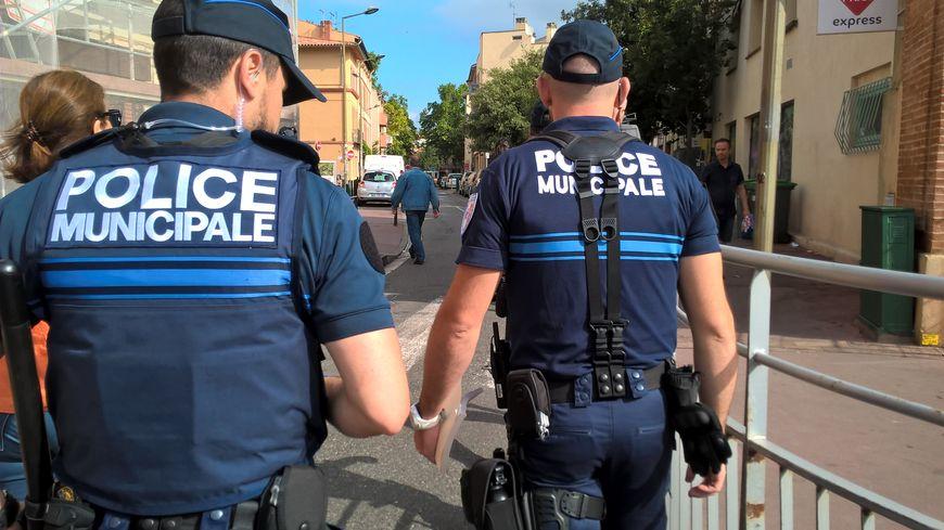 Une patrouille de la police municipale à Toulouse