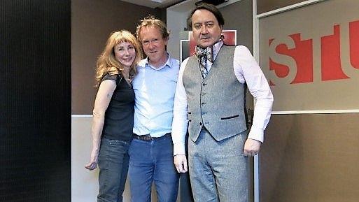 France Musique, studio 131... Julie Depardieu, Benoît Duteurtre & Michel Fau, complices de théâtre mélomanes éperdus ! (g. à d.)