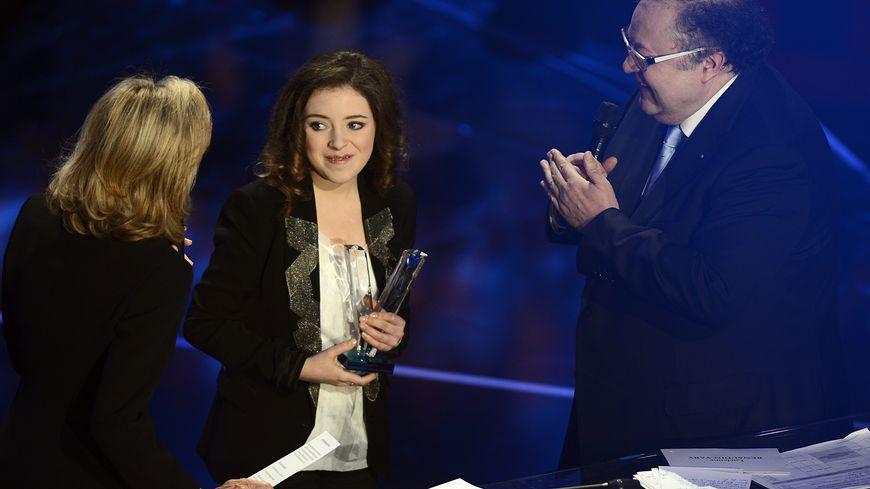 La trompettiste mancelle Lucienne Renaudin-Vary lors de la cérémonie des Victoires de la musique classique en 2016