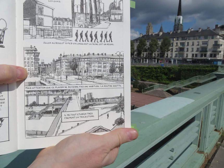 D'une rive à l'autre, Emmanuel Lemaire porte son regard sur Rouen (Facebook de l'auteur)