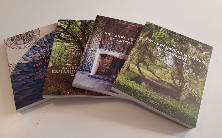 """Les livres """"... Les arbres remarquables"""" ou """"Intérieurs secrets en Limousin"""" connaissent un beau succès"""