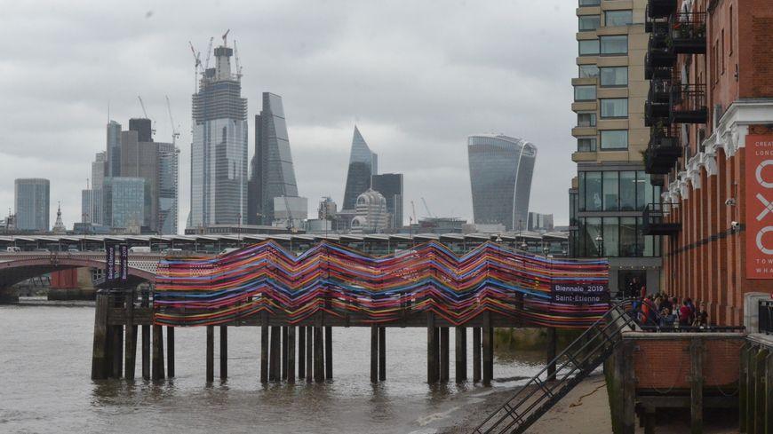 Le ponton stéphanois en plein coeur de Londres