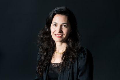 L'écrivaine américaine Nicole Krauss pendant le Festival international du livre d'Édimbourg, le 27 août 2017.