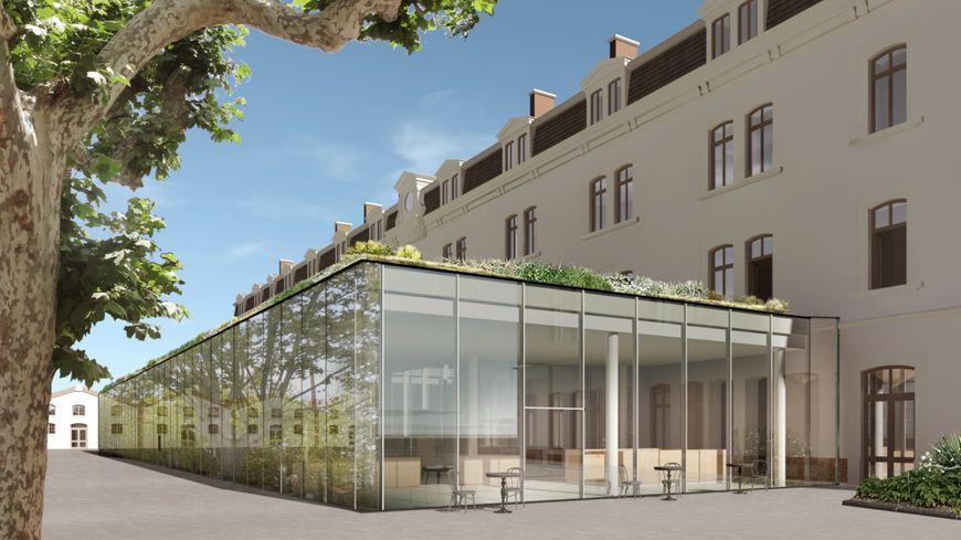 Voilà à quoi ressemblera la médiathèque de Valence, début 2020, d'après les plans de l'architecte.