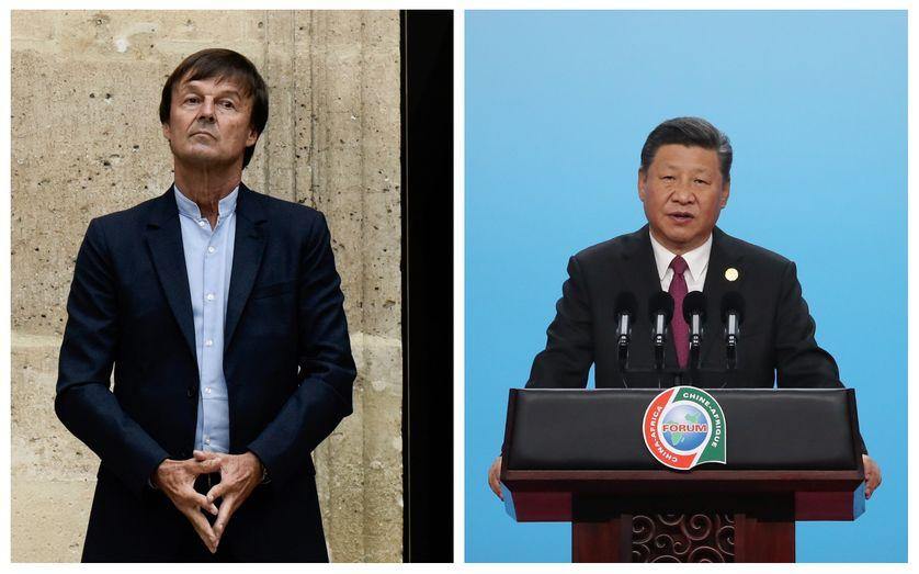 Nicolas Hulot le 4 septembre 2018 // Xi Jinping le 3 septembre pour le Forum Chine-Africain à Pékin