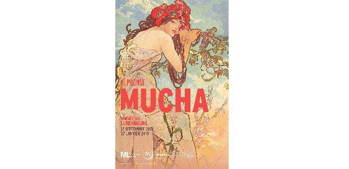 """L'affiche de l'exposition """"Alphonse Mucha"""" au Musée du Luxembourg"""