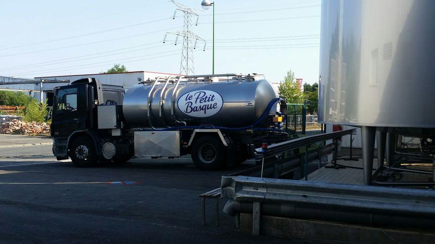 L'arrivée du camion de collecte