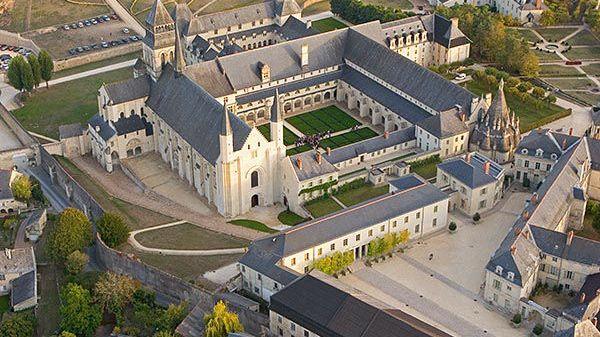 Vue aérienne de l'abbaye de Fontevraud