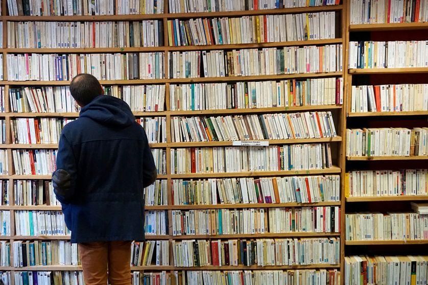 Photo prise dans une librairie à Bécherel le 2 avril 2018.