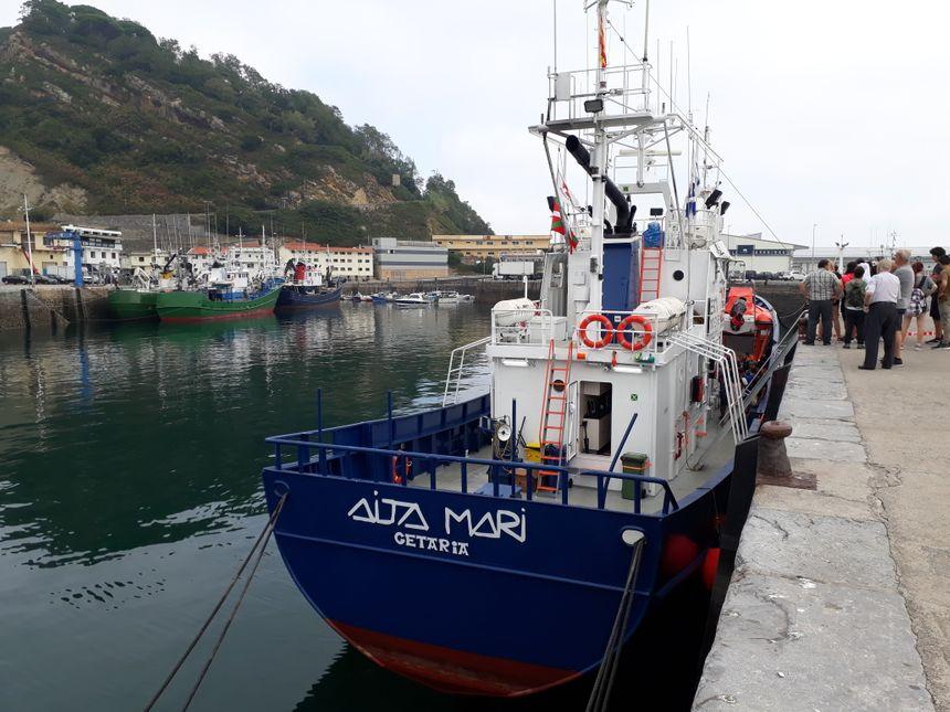 L'Aita Mari prendra le large depuis le port de Getaria, en Gipuzkoa