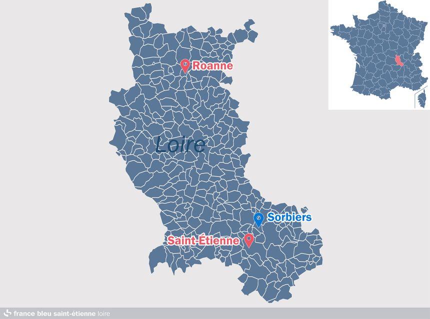 Sorbiers, dans la Loire