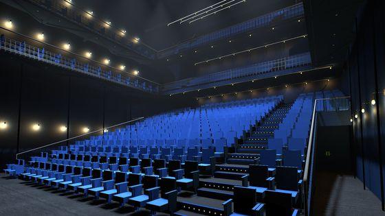 Image de synthèse de la salle de la Scala de Paris, dans le Xe arrondissement