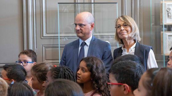Jean-Michel Blanquer, ministre de l'éducation nationale et Françoise Nyssen, ministre de la Culture au musée Rodin lors de la présentation du plan pour l'éducation artistique et culturelle