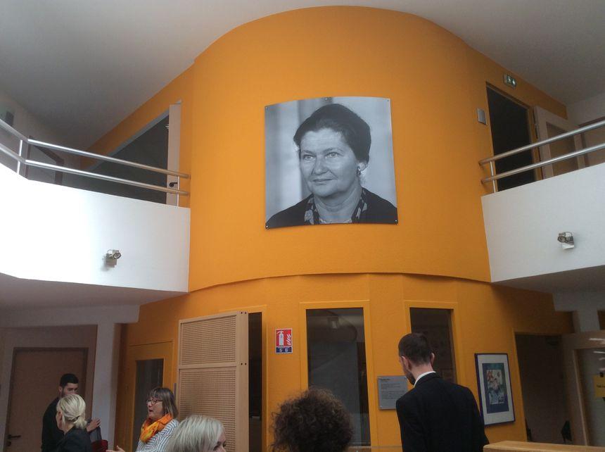 Le centre de planification familiale de Belfort prend le nom de Simone Veil, le 25 septembre 2018.