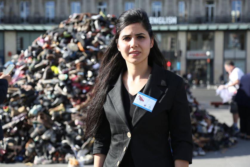 Sara Shwani militante irakienne de Handicap International à Paris