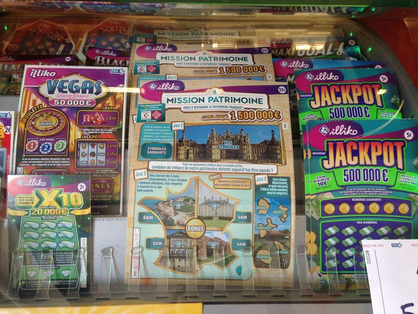 Les jeux à gratter coûtent 15 euros; 1,50 euro est reversé à la mission patrimoine.