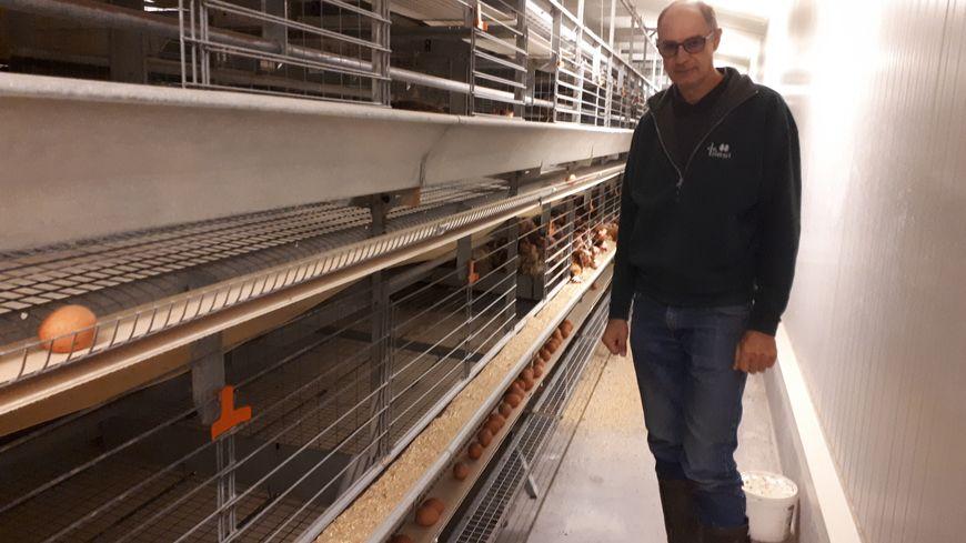Pascal Butez, éleveur de poules pondeuses, à Saint-Tricat, près de Calais, attend toujours les aides promises par l'Etat, après le scandale du Fipronil.