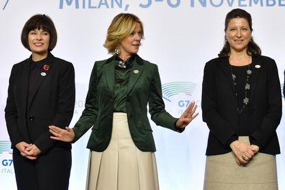 Beatrice Lorenzin (au centre), la ministre de la Santé italienne qui a étendu la couverture vaccinale, et Agnès Buzyn (à droite), son homologue française