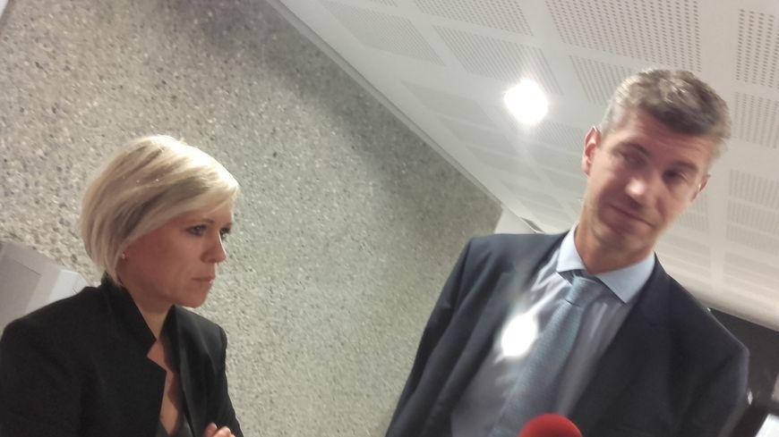 """Mélanie Lavy, la veuve du randonneur tué par le chasseur, et son avocat, Nicolas Ballaloud parlent d'un jugement """"adapté"""""""