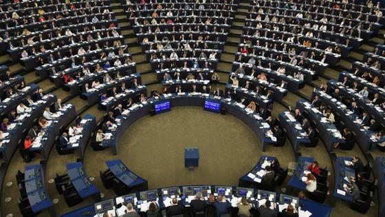 Le Parlement européen au moment du vote à Strasbourg