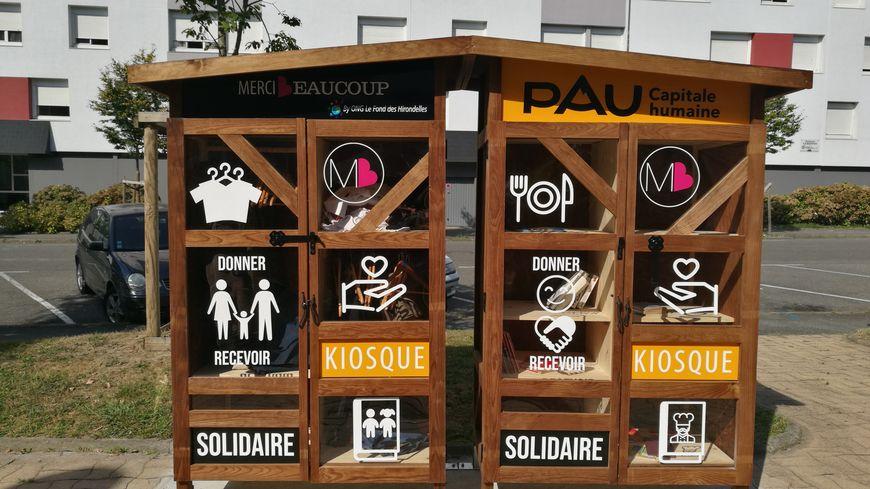 Le kiosque solidaire, rue Berlioz.