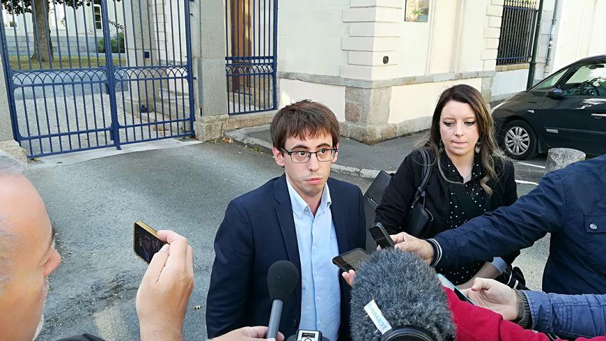 Quentin Guillemain et Ségolène Noviant de l'association des familles victimes de Lactalis