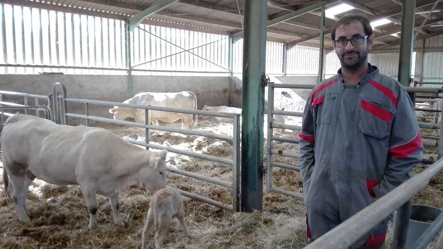 Olivier Giraudon a attaqué ses stocks de fourrage d'hiver avec 1 mois et demi d'avance