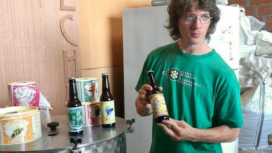Adrien Kempf s'est lancé il y a quelques mois dans la production de bières bio et artisanales.