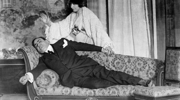 La cantatrice Géraldine Farrar et Enrico Caruso
