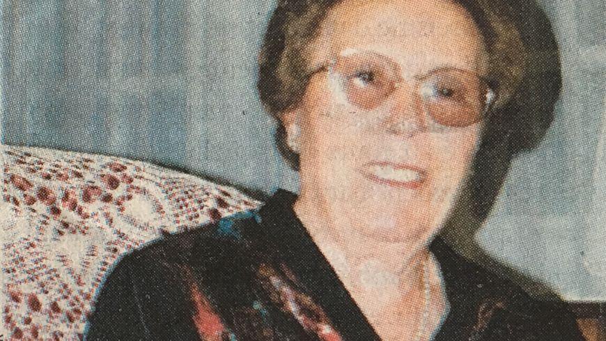Lucie Valin, prise en photo à l'occasion d'une fête de famille, quelques années avant son meurtre.