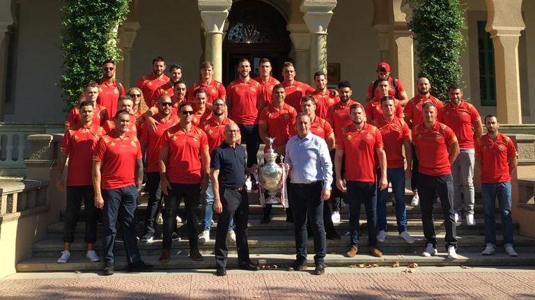 Les Dragons catalans présentent la Cup à Barcelone