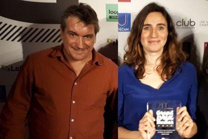 Marcos Darras et Julie Pietri après la remise du prix CB News