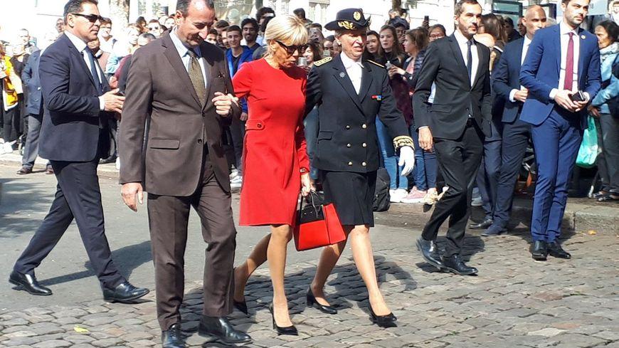 Brigitte Macron était à Rouen ce lundi en compagnie de la reine de Norvège pour célébrer les 100 ans de la section norvégienne du lycée Corneille.