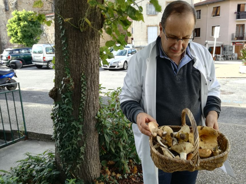 Il y a quelques années, ce passionné prenait trois ou quatre paniers ; aujourd'hui il n'en prend qu'un, faute de trouver assez de champignons.