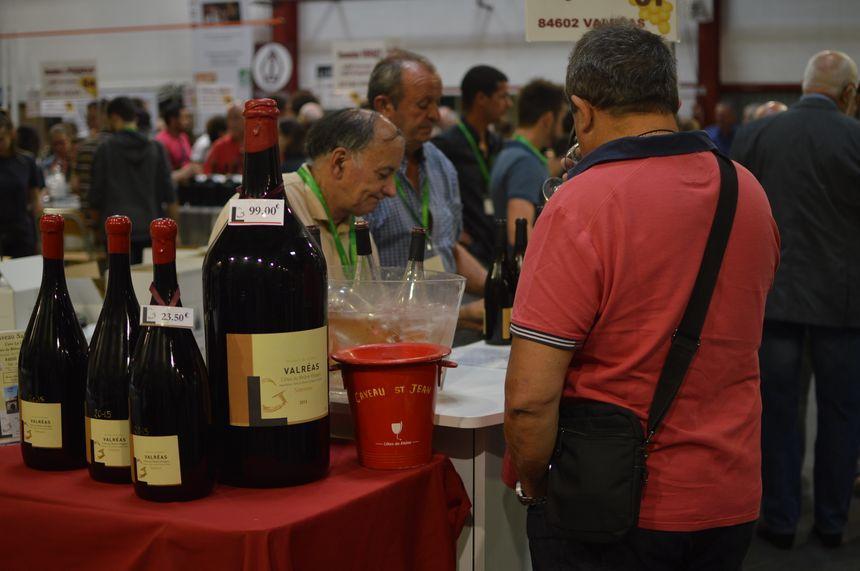 A la foire au vin de Saint-Péray en Ardèche.