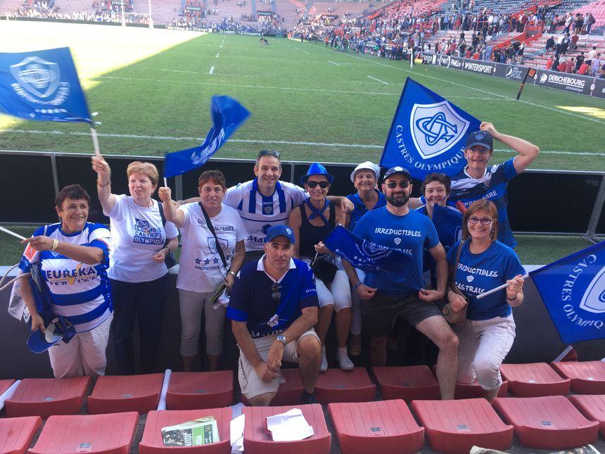 Les supporters castrais, venus en nombre à Ernest-Wallon, étaient aux anges à la fin du match