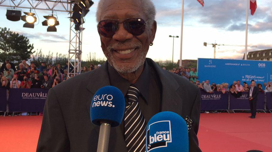 Morgan Freeman sur le tapis rouge du festival de Deauville