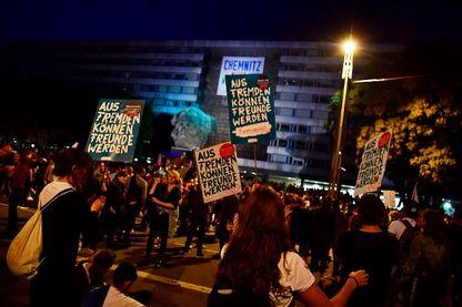 03 septembre 2018, Manifestation contre l'extrême-droite à Chemnitz, en Saxe – Allemagne.