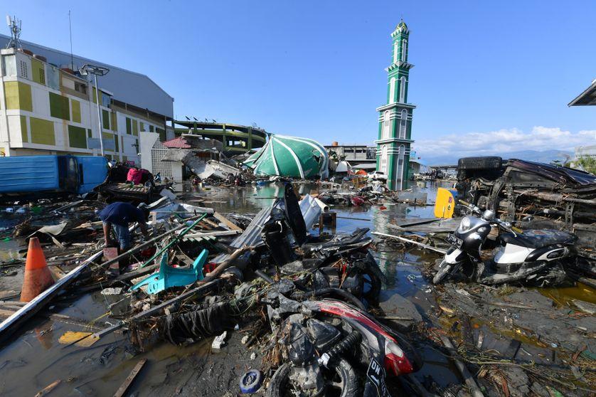 La ville de Palu qui compte plus de 330 000 habitants, dévastée.