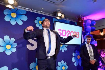 Jimmie Akesson, le leader de l'extrême droite suédoise lors de la soirée électorale