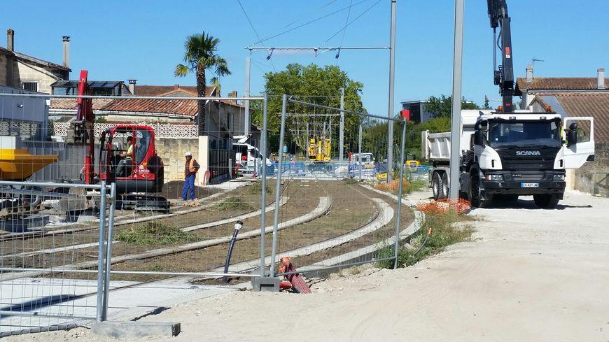 Les travaux du tramway sont entrés dans leur dernière ligne droite à Villenave d'Ornon