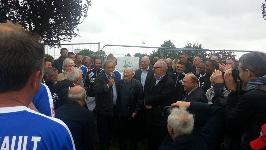 L'ancien footballeur de l'AS Nancy Lorraine Michel Platini rend hommage à son père Aldo.