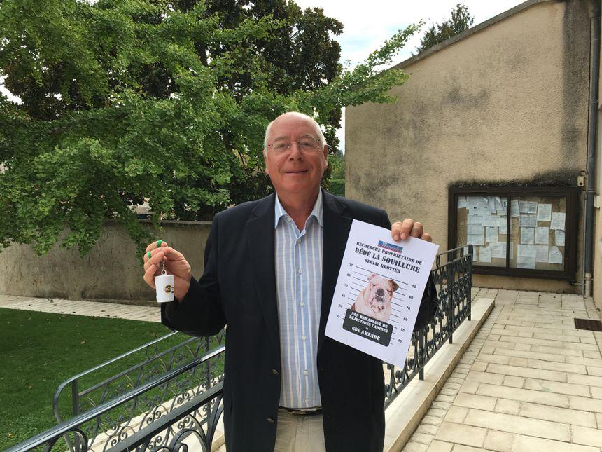 Jean Blanchard, adjoint au maire de Montmorillon, à l'initiative de cette campagne de sensibilisation.