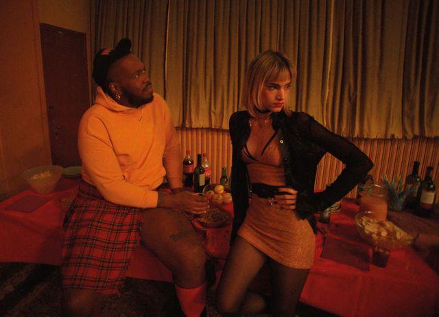 """Kiddy Smile et Sofia Boutella, sur le tournage de """"Climax"""" de Gaspar Noé (sortie le 19 septembre 2018)"""