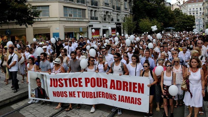 La marche blanche pour Adrien Perez, le 8 août dernier
