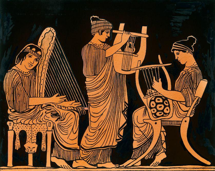 Musiciens à la lyre