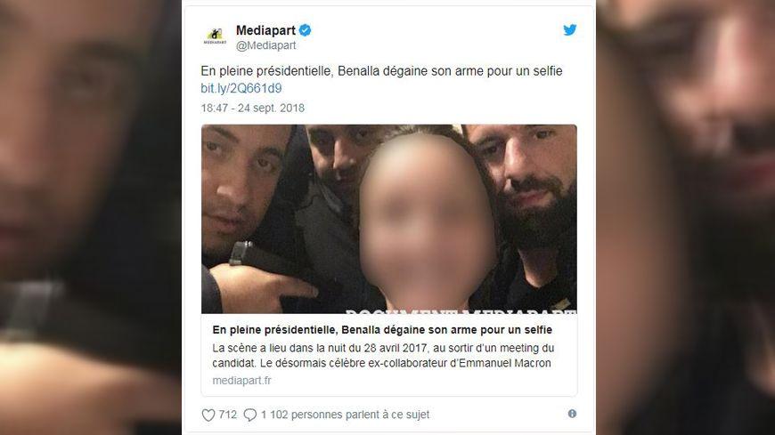 Le selfie dévoilé par Mediapart.
