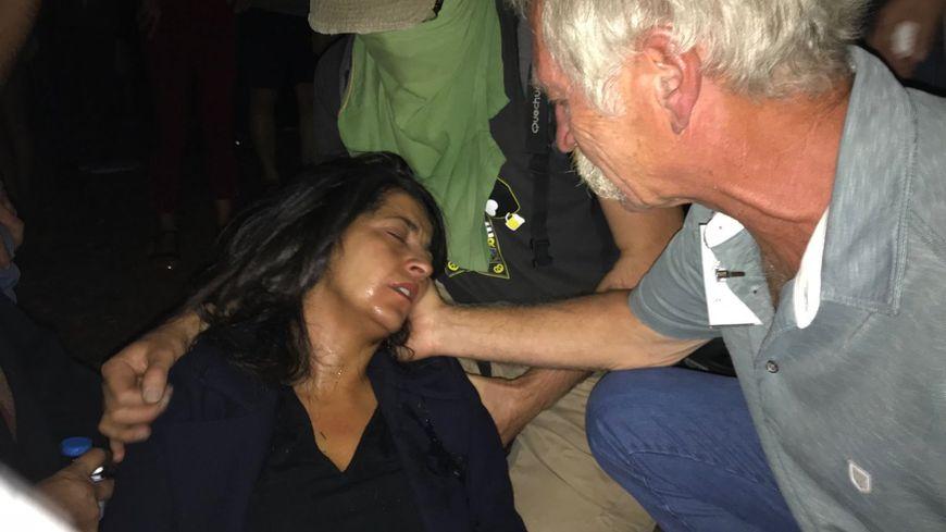 Karima Delli, touchée par du gaz lacrymogène.