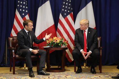 Rencontre entre Emmanuel Macron et Donald Trump